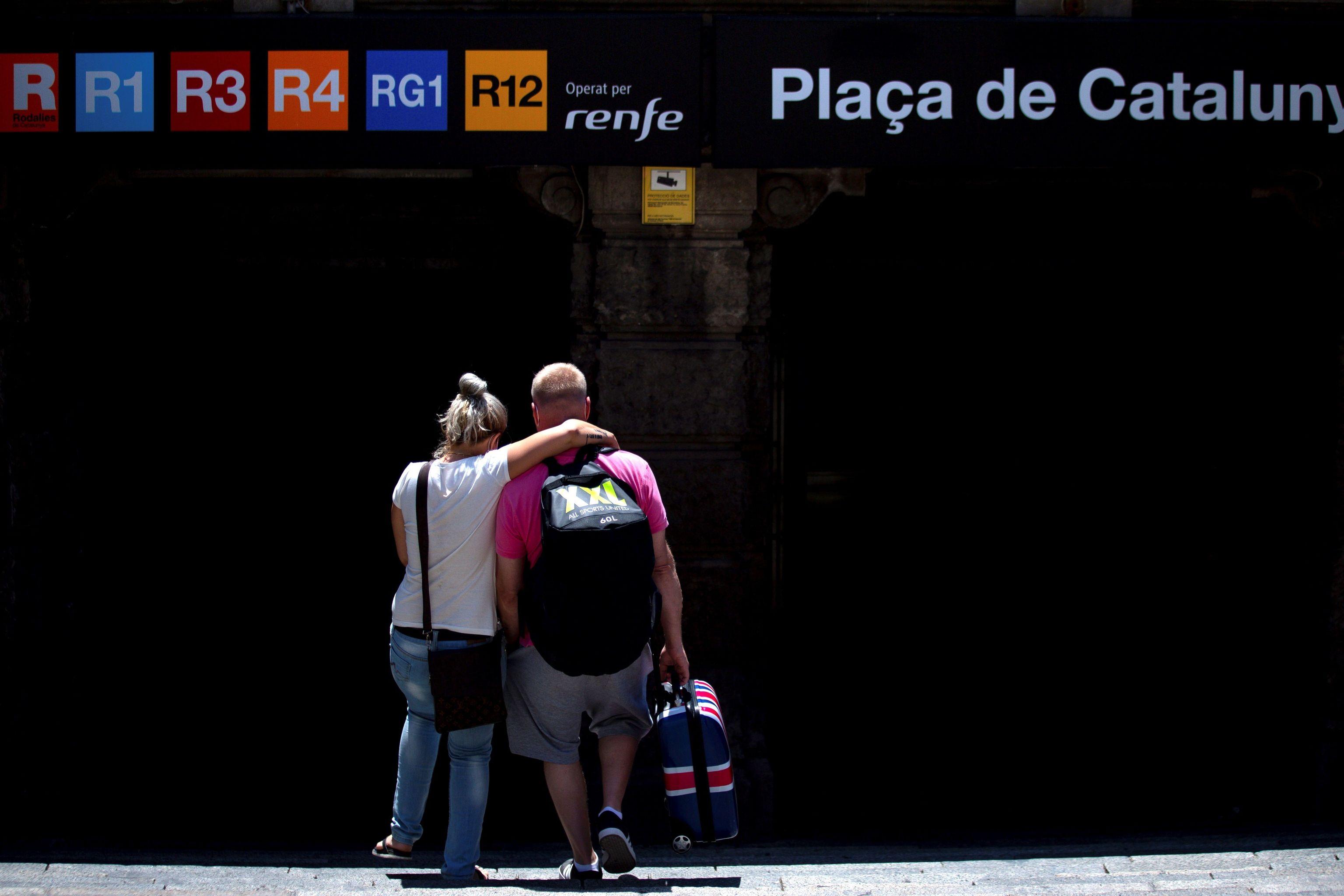 Llegada de turistas a Barcelona durante la pandemia de coronavirus.