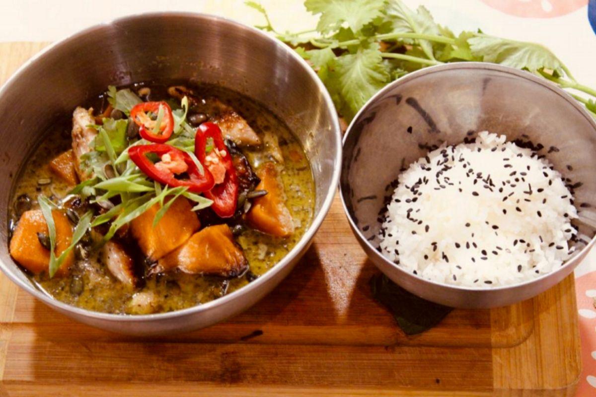 Curry verde, en Yeca Estrit Fud.