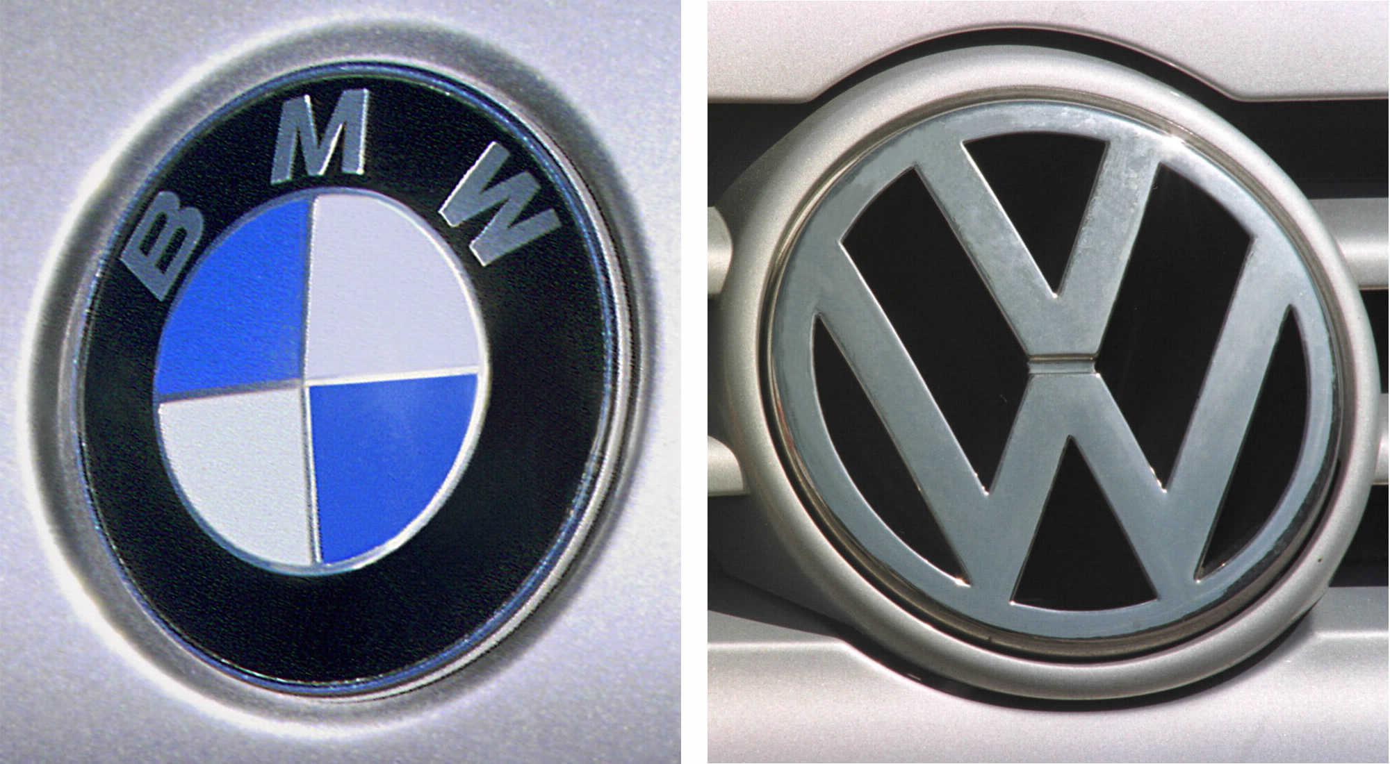 Logotipos de la compañias BMW y del grupo Volkswagen.