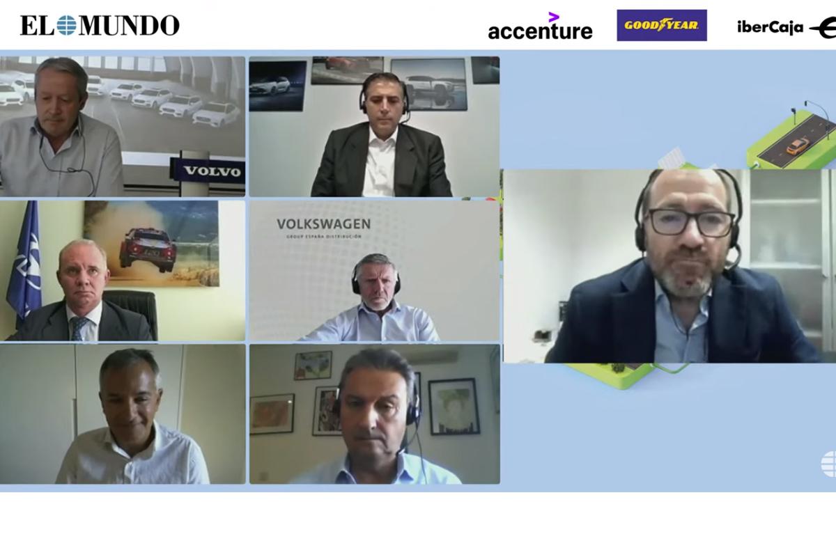 De arriba abajo y de izquierda a derecha: Galofré (Volvo), Carsí (Toyota), García (Unidad Editorial), Satrustegui (Hyundai), Pérez-Botello (VW), Cavallé (Accenture) y Alonso (Ford)