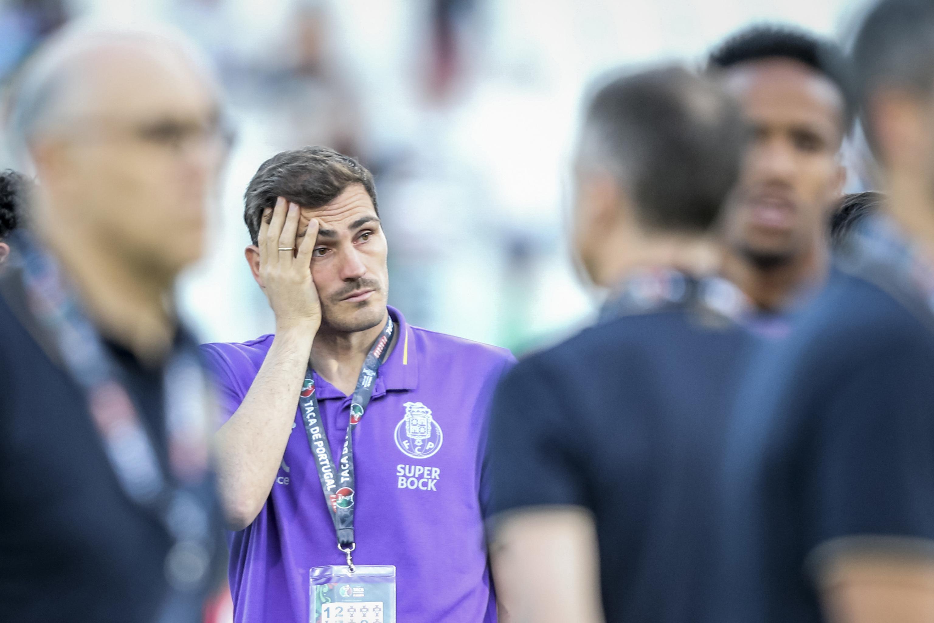Iker Casillas en el Estadio Nacional de Portugal