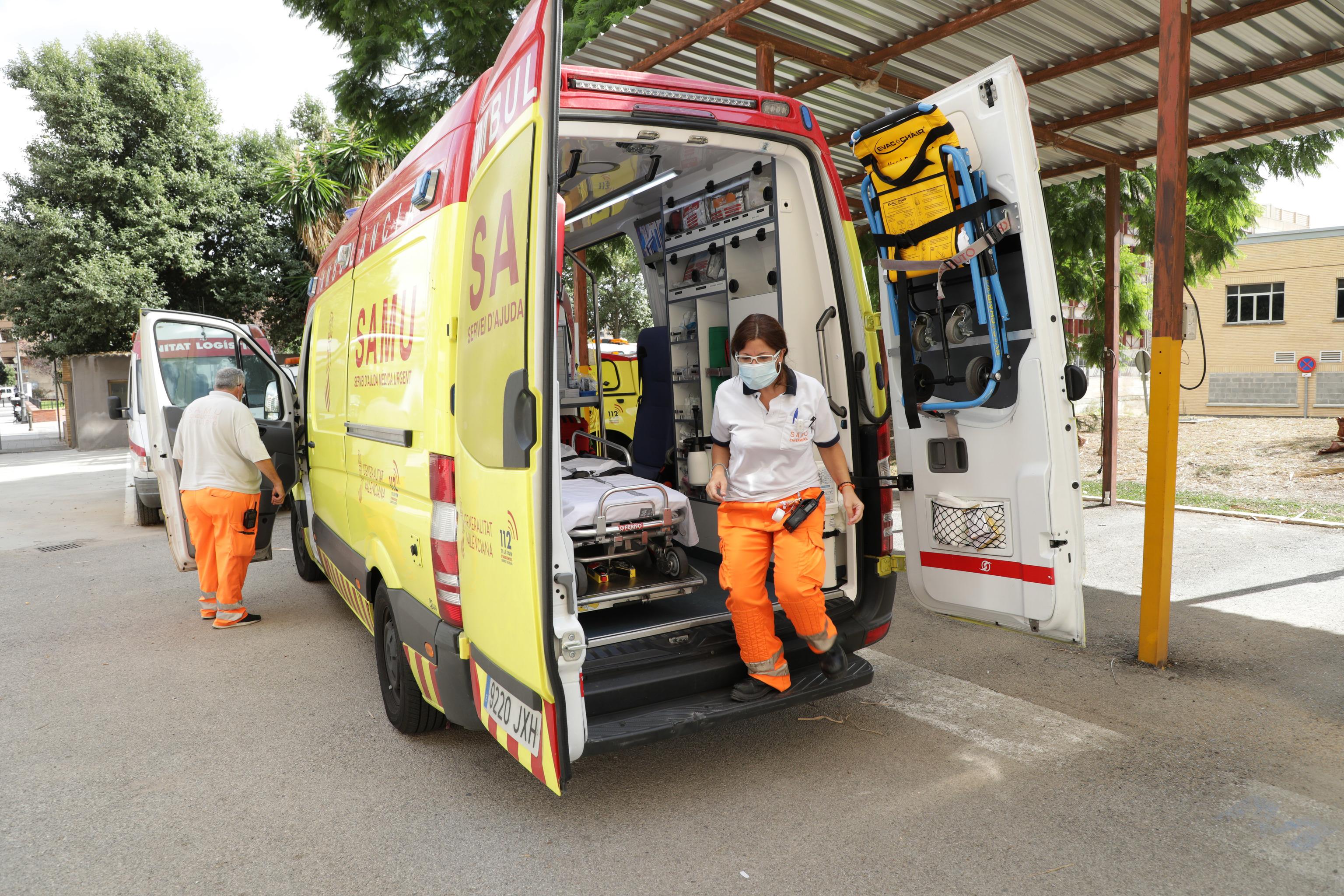 Ambulancia de los servicios sanitarios valencianos.