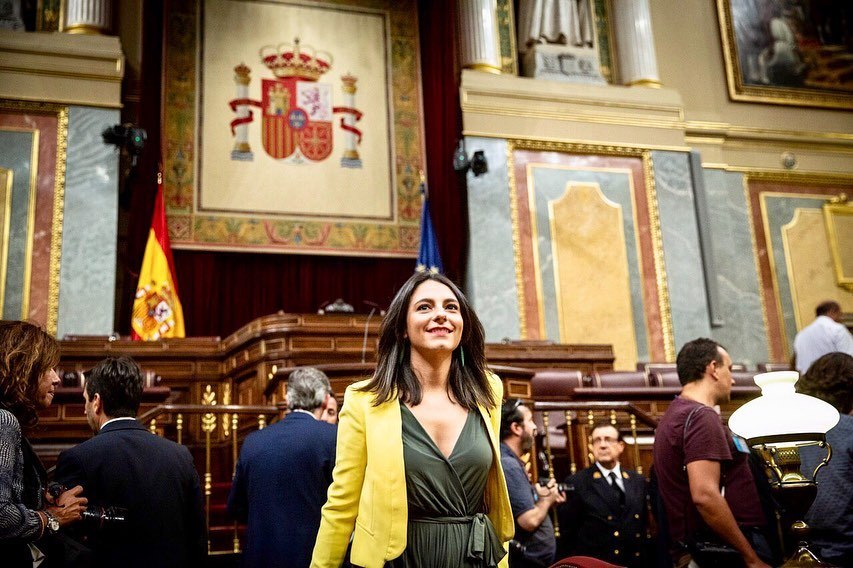 María José en el Congreso de los Diputados