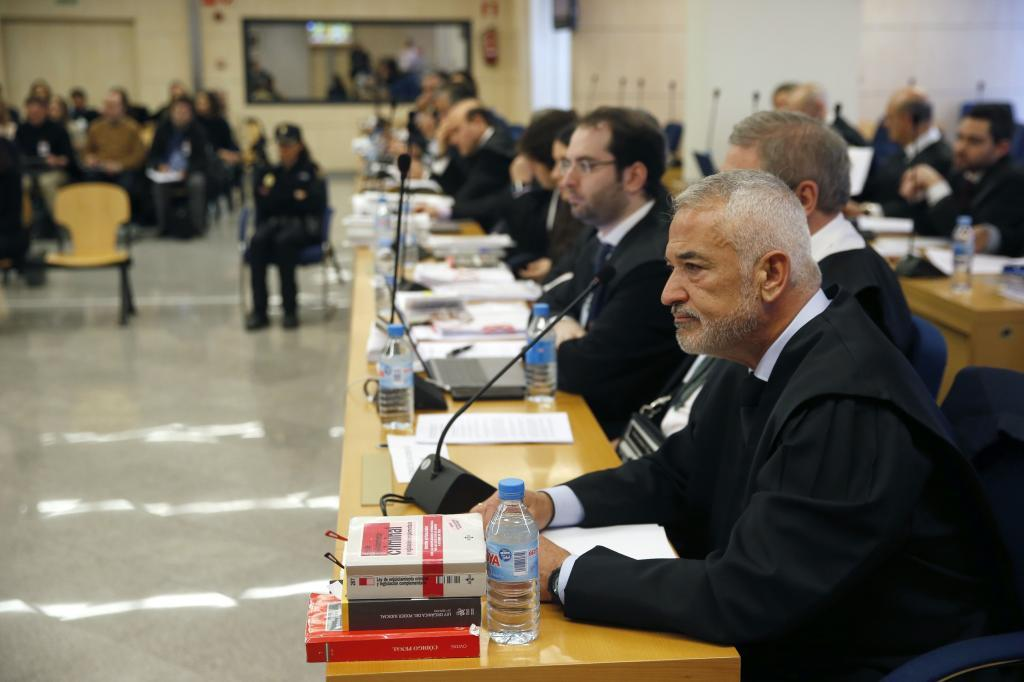 Luis Pineda, en el juicio celebrado contra él en la Audiencia Nacional.