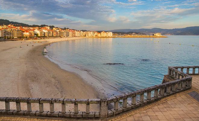 La playa del municipio gallego de Sanxenxo.