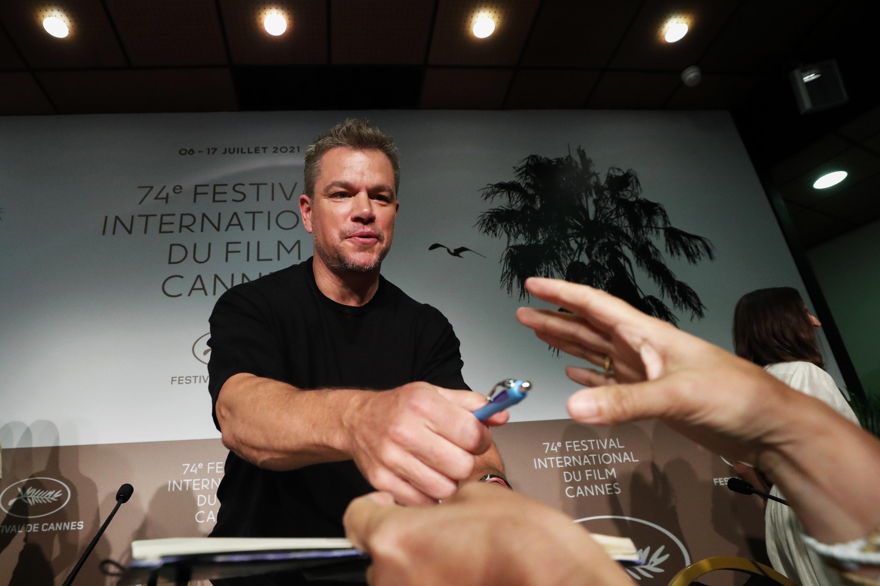 Matt Damon en la presentación de 'Cuestión de sangre'.