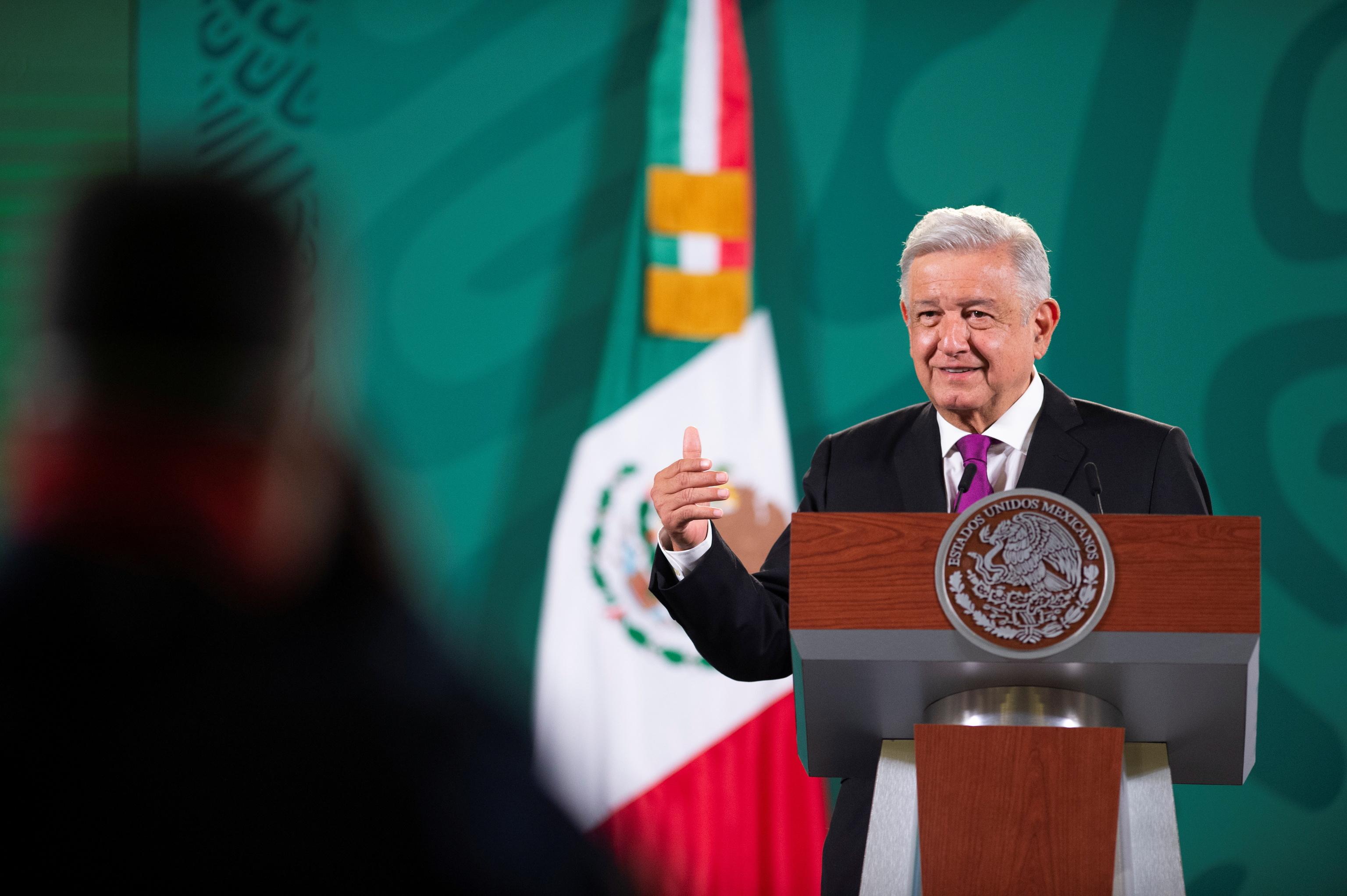 López Obrador, en una rueda de prensa este viernes.
