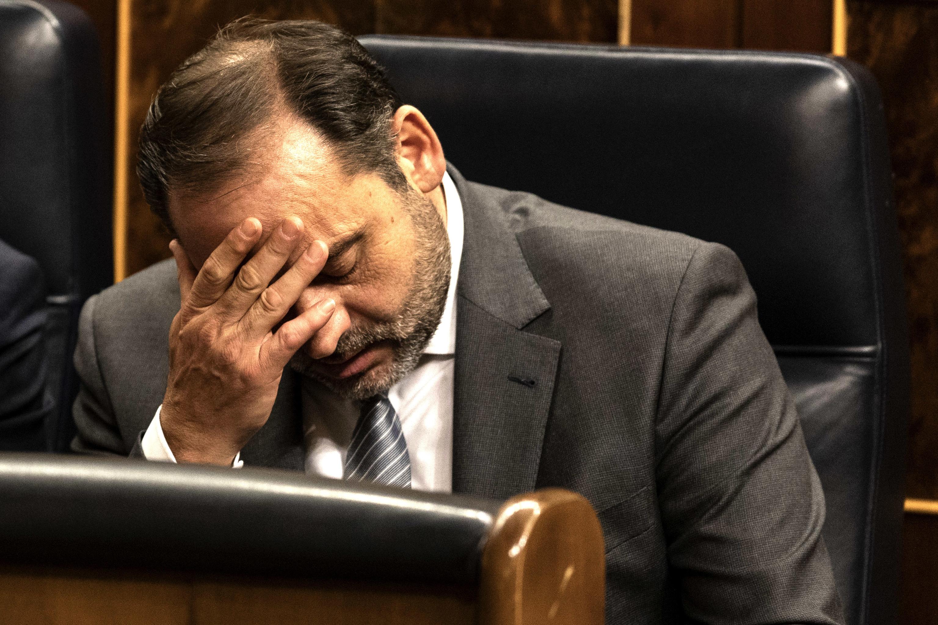 José Luis Ábalos, en el Congreso.