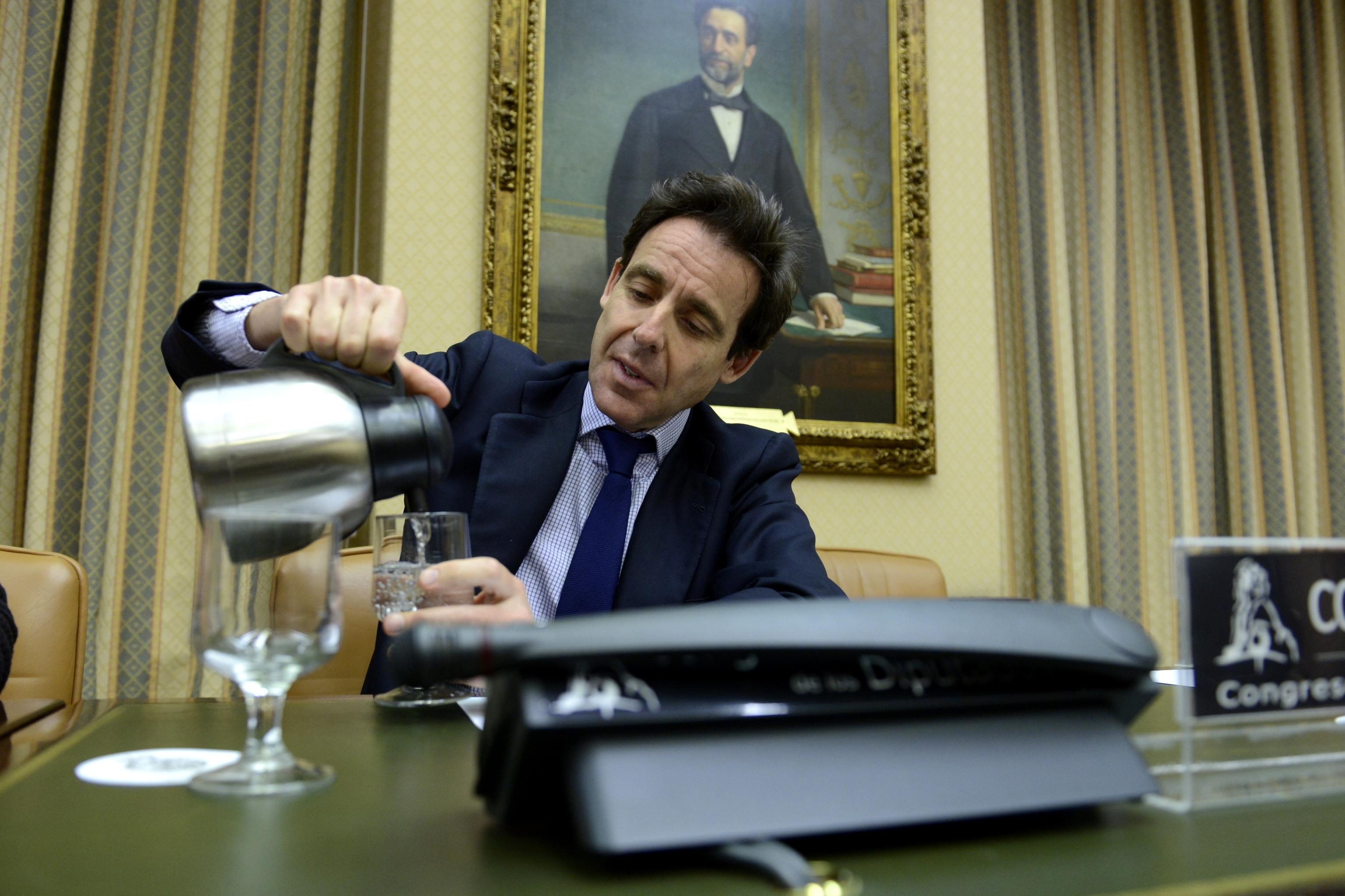 El empresario Javier López Madrid, durante su comparecencia en el Congreso.