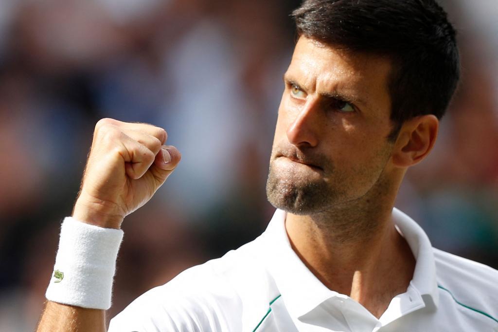 Djokovic, durante la final ante Berrettini.