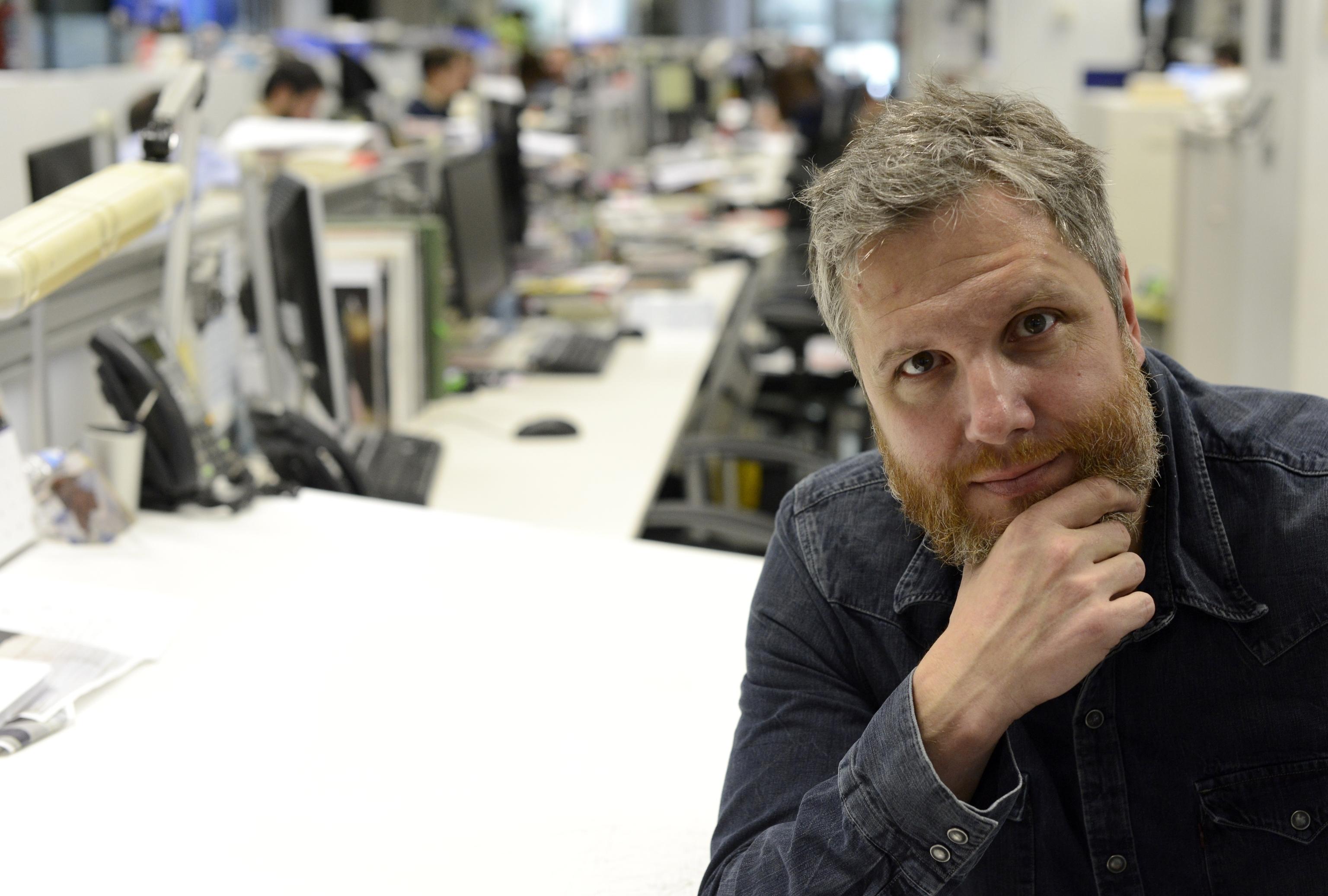 David Gistau, en la redacción de EL MUNDO, en 2018.