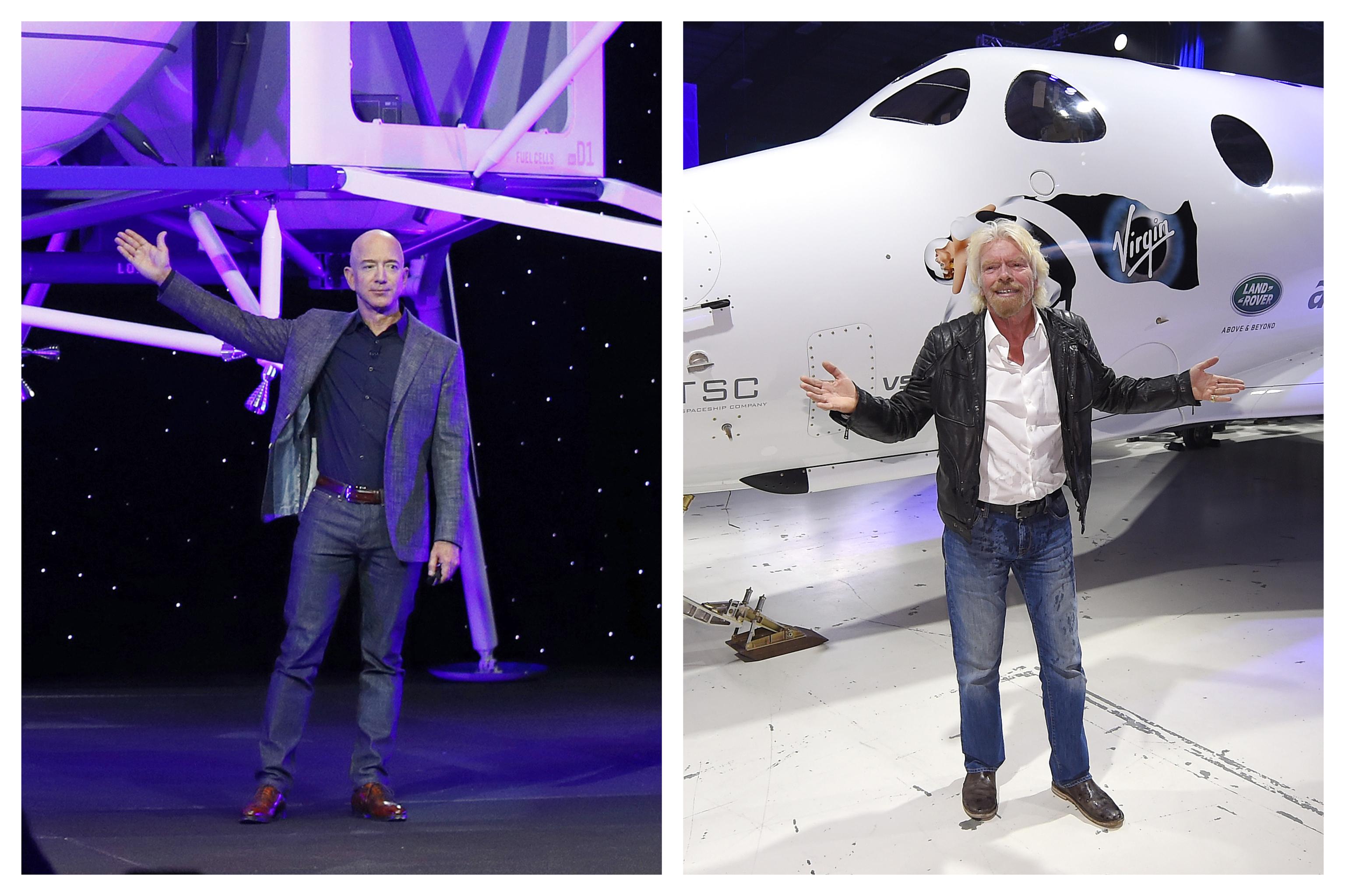 Pique entre los hombres más ricos del planeta por el turismo espacial: ¿dónde empieza realmente el espacio?