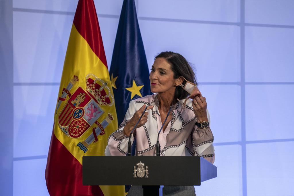 La ministra de Industria, Turismo y Comercio, Reyes Maroto.