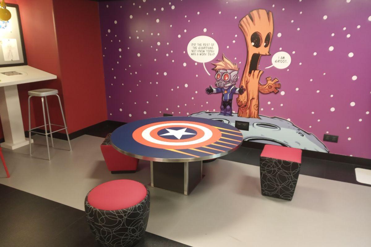 Interior del Marvel Design Studio.