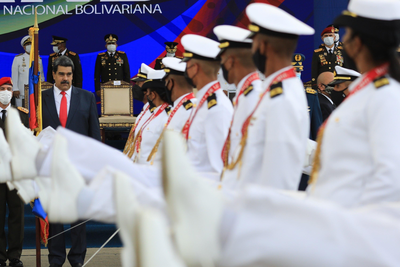 Nicolás Maduro, durante un acto militar en Caracas.