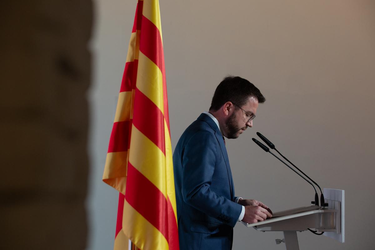 El presidente de la Generalitat, Pere Aragonès.