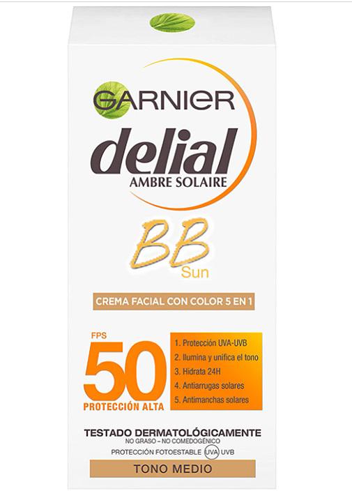 BB Cream con color y protector solar, de Garnier.