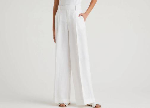 Pantalón ancho de mujer de Benetton con efecto pierna infinita para parecer más alta