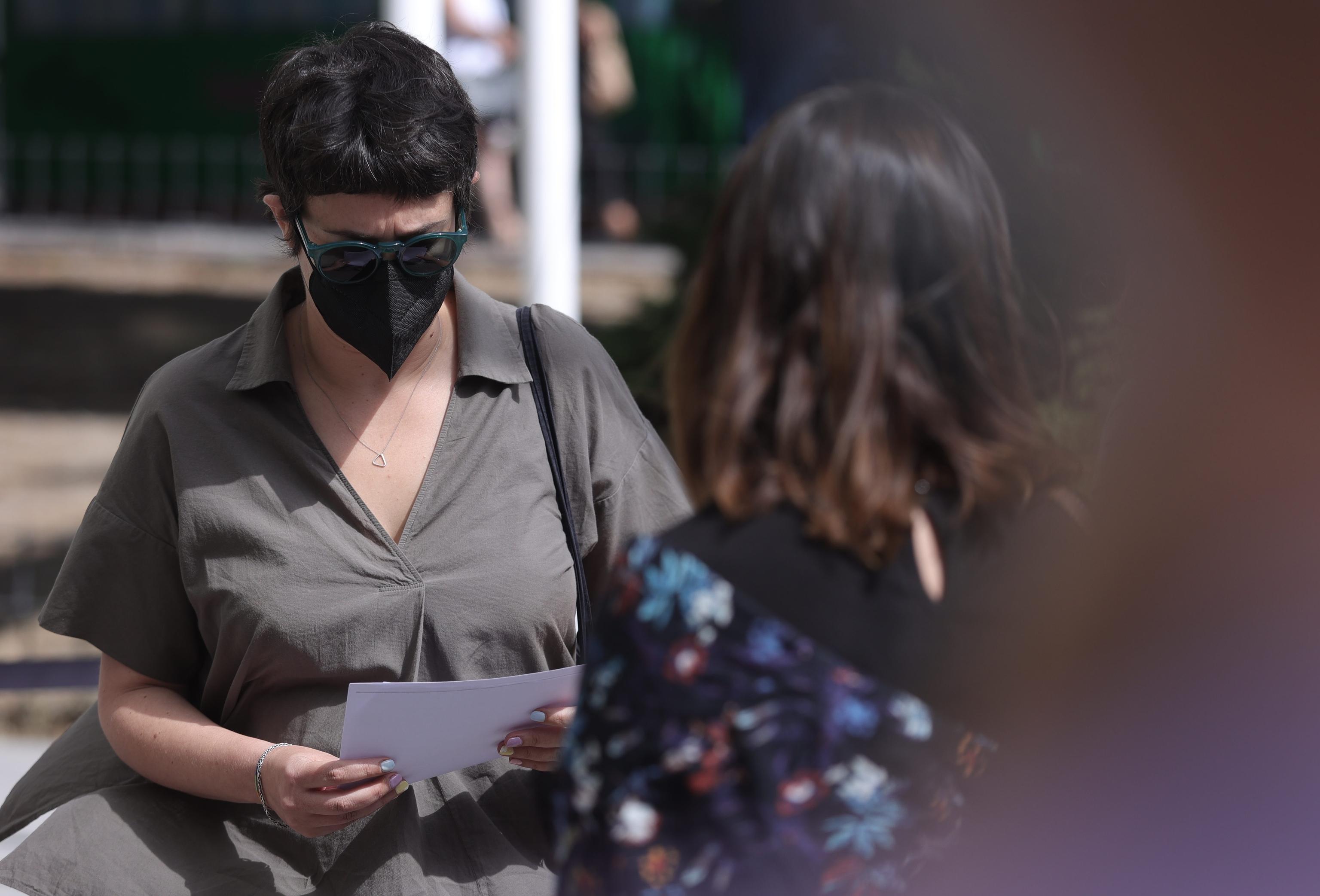 Teresa Arévalo acude este miércoles a declarar en los juzgados de Plaza de Castilla.