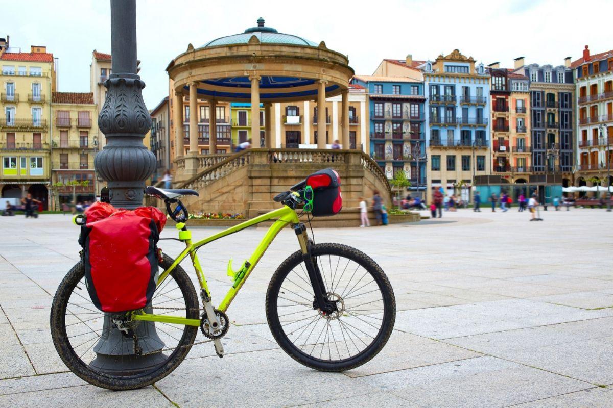 Bicicleta en Pamplona.