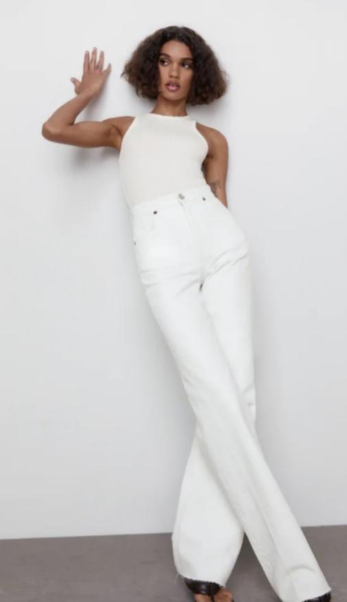 Pantalón ancho de mujer de Naf Naf con efecto pierna infinita para parecer más alta