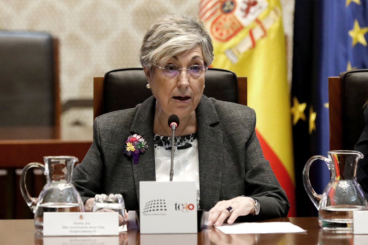 Encarnación Roca, vicepresidenta del TC.