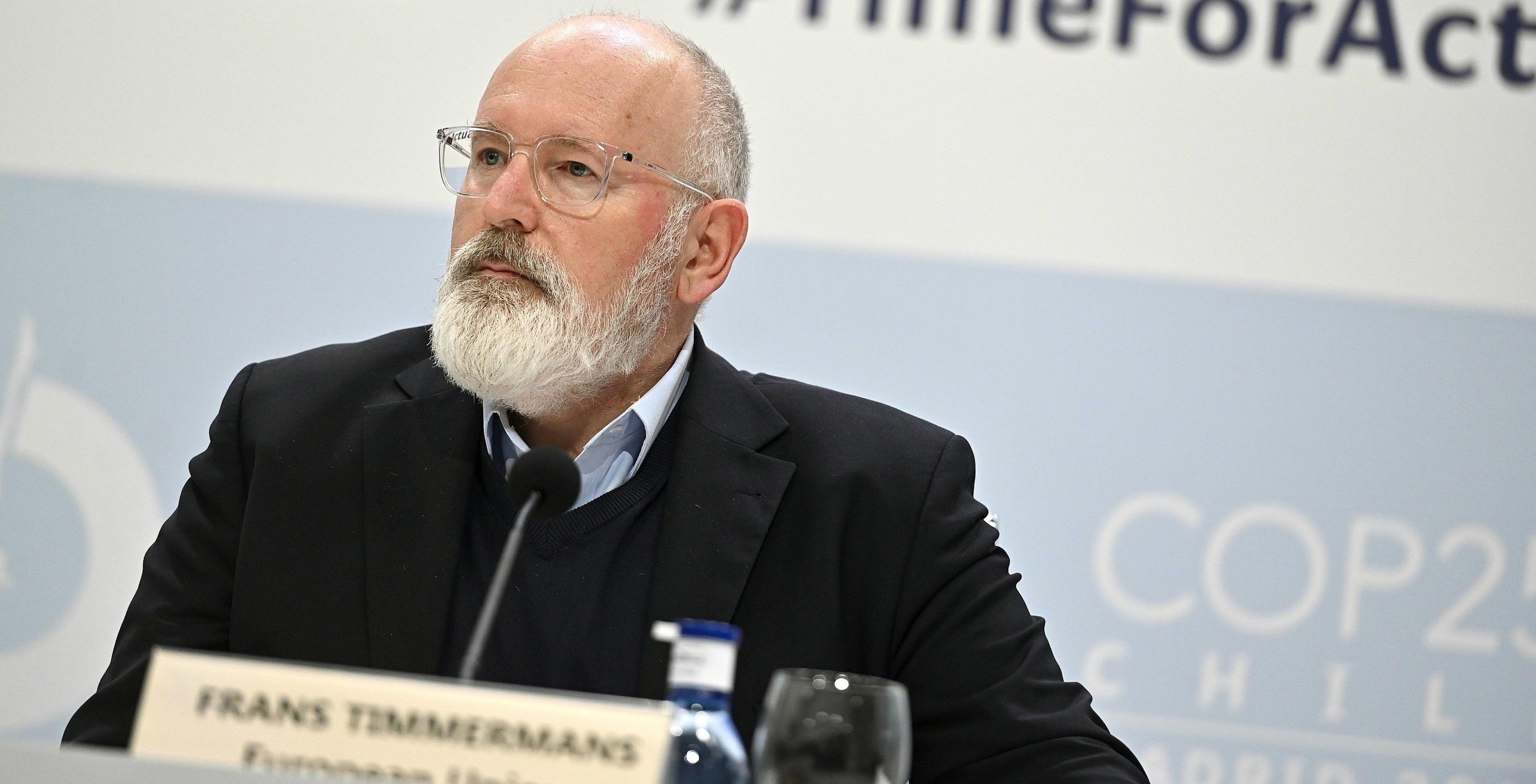 Frans Timmermans, vicepresidente de la CE