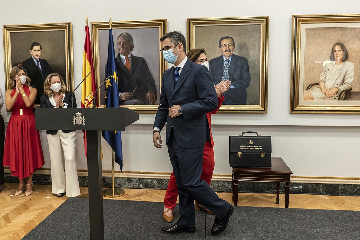 Félix Bolaños, en su toma de posesión como ministro.