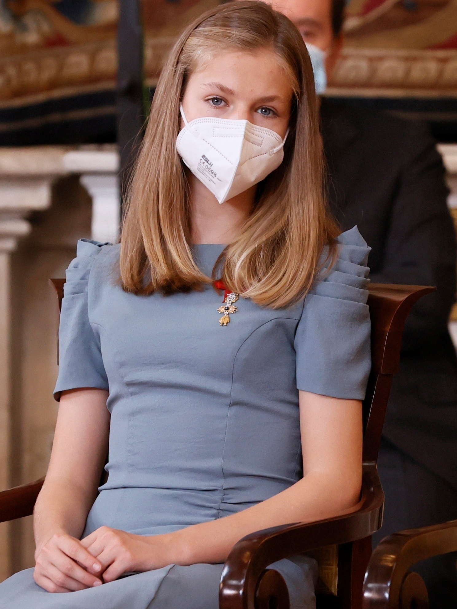 Leonor en un acto en el Palacio Real