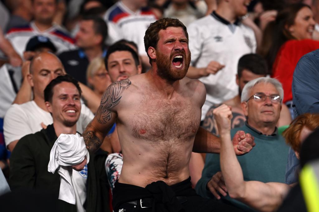 Un aficionado inglés, durante la final de la Eurocopa.