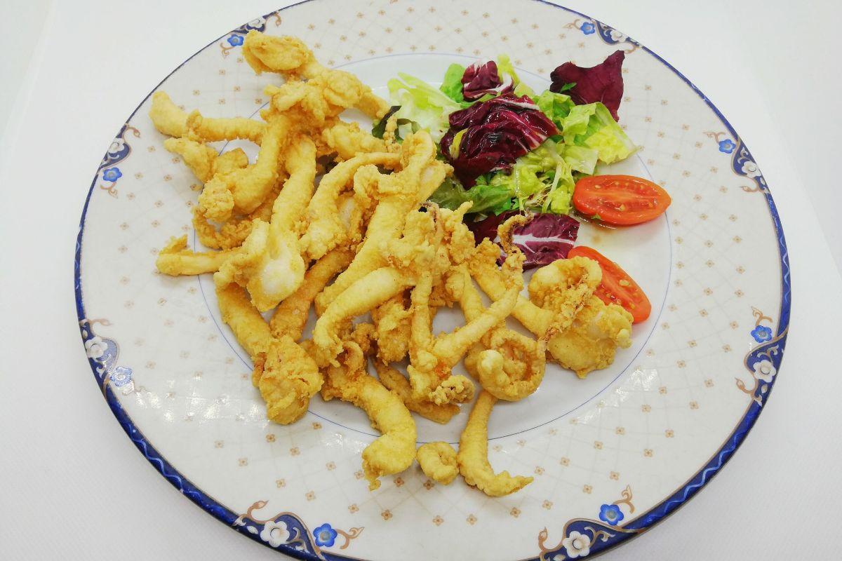 Patitas de calamar, en La Giralda.