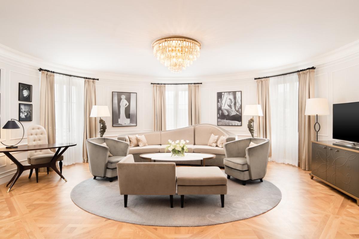 La Bette Davis Suite en el Hotel María Cristina.