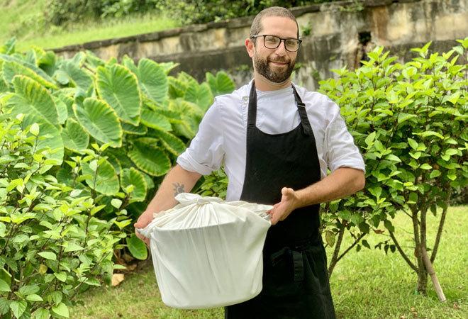 Joao Fevereiro, el chef del Furnas Boutique Hotel.