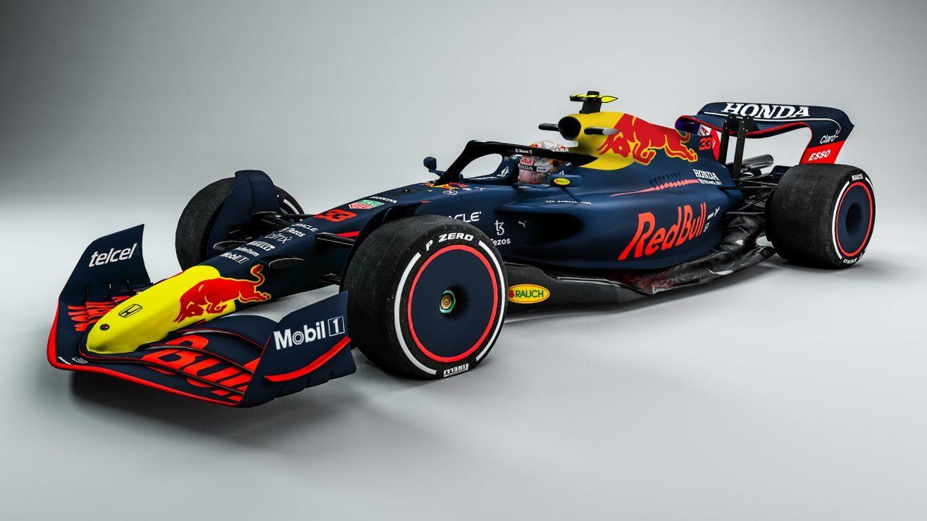 El prototipo de la F1 para el Mundial 2022, con los colores de Red Bull.