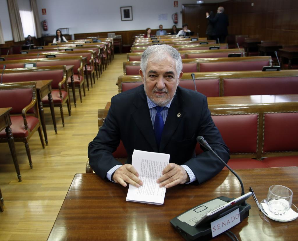 El magistrado Cándido Conde-Pumpido, en una comparecencia el el Senado.