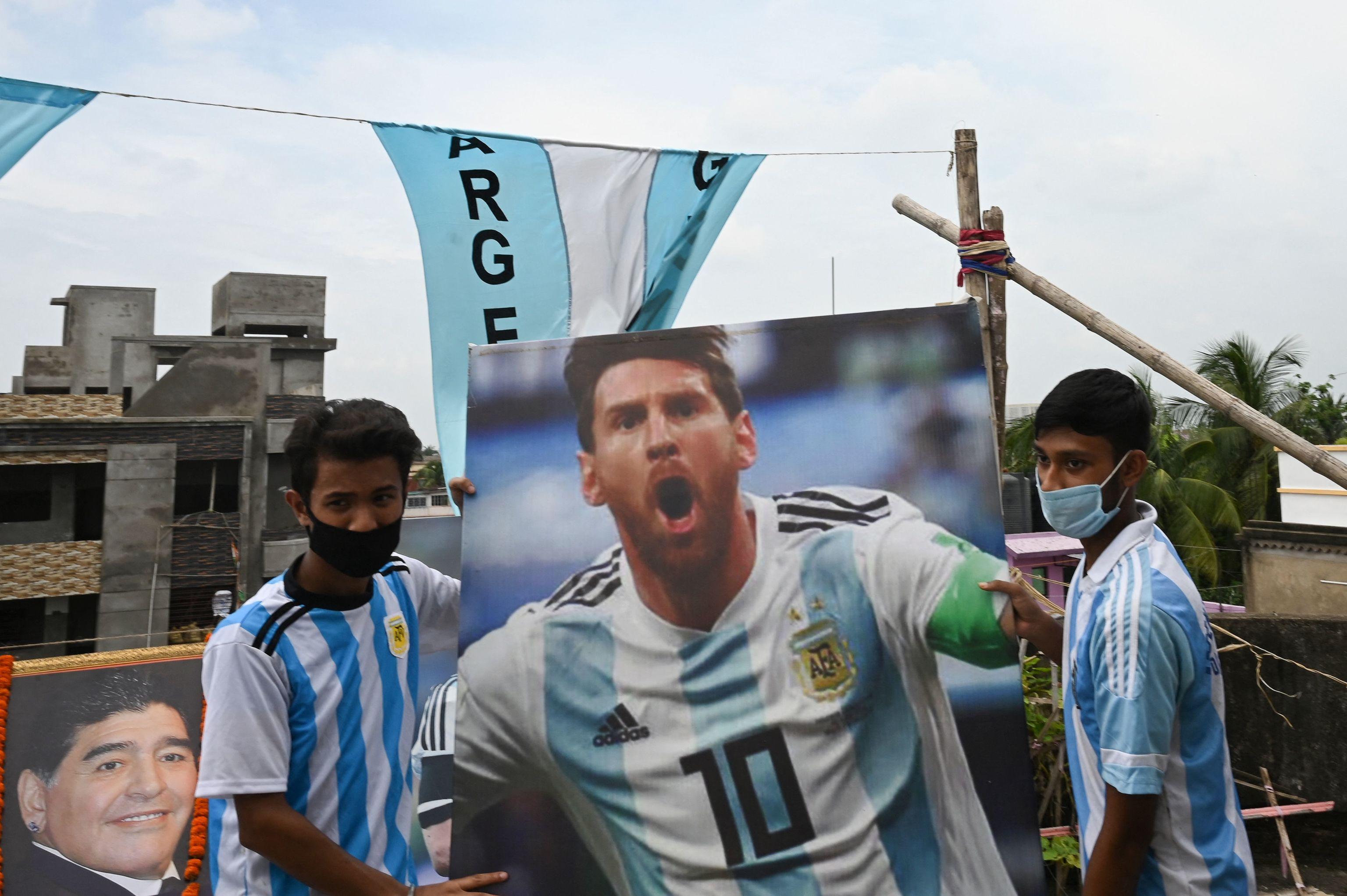 Aficionados de Argentina, en la celebración de la Copa América.