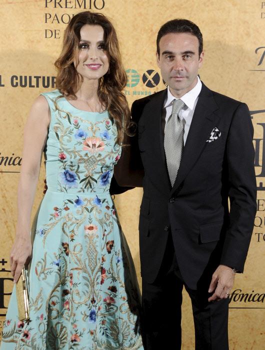 Paloma  Cuevas y Enrique Ponce, en una imagen de archivo.