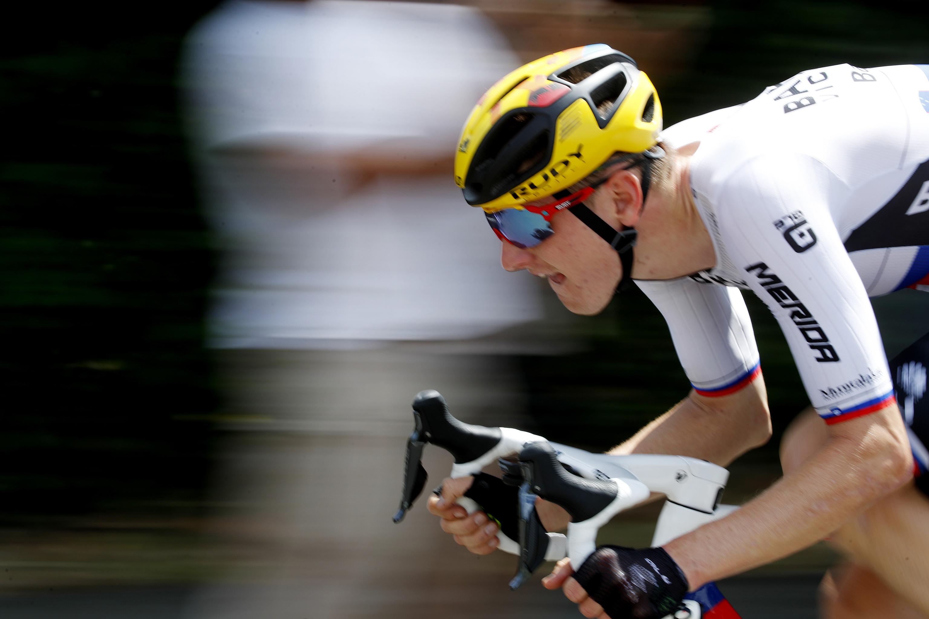 Mohoric, camino de su segunda victoria en el Tour.