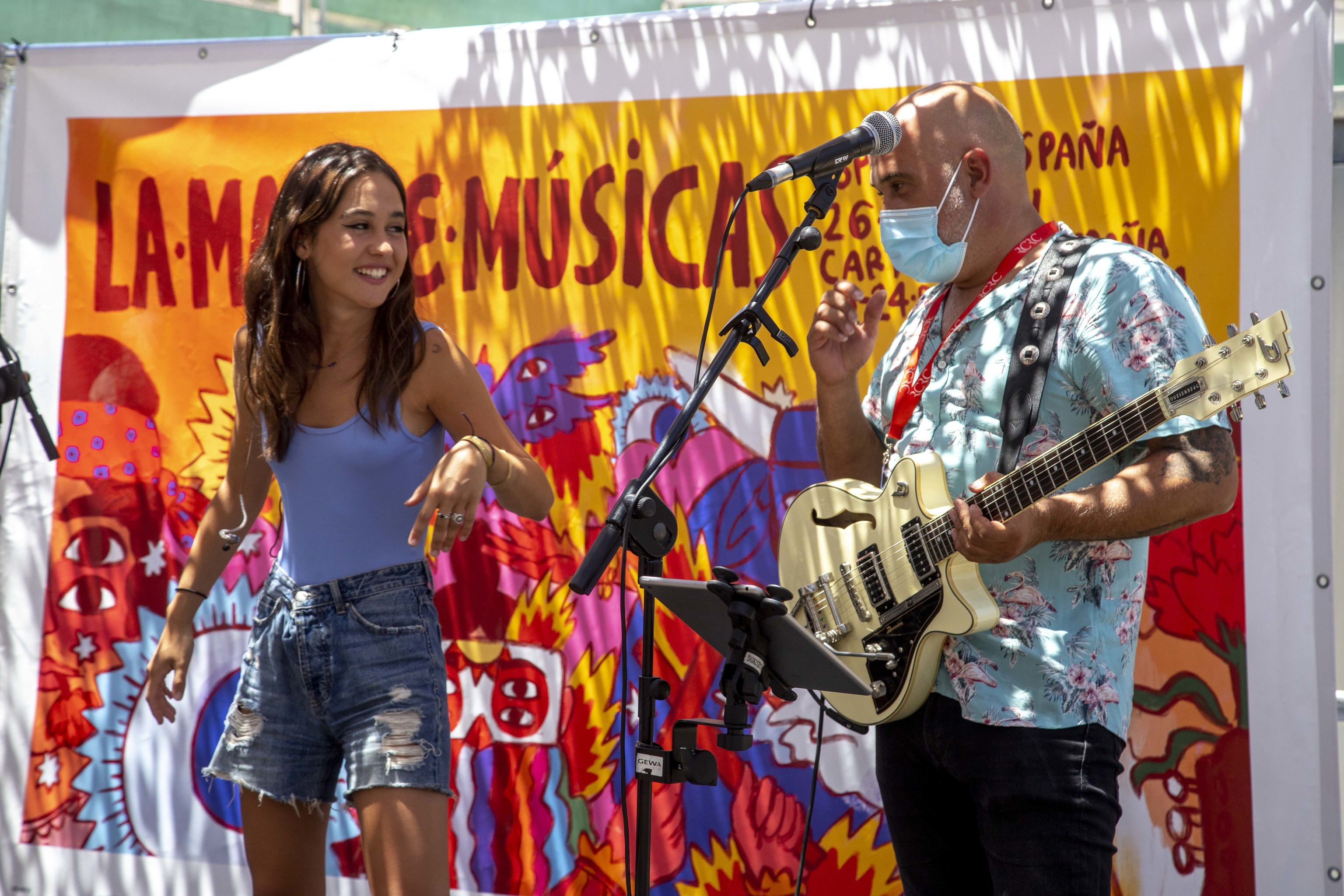 La cantante Yarea en el festival murciano