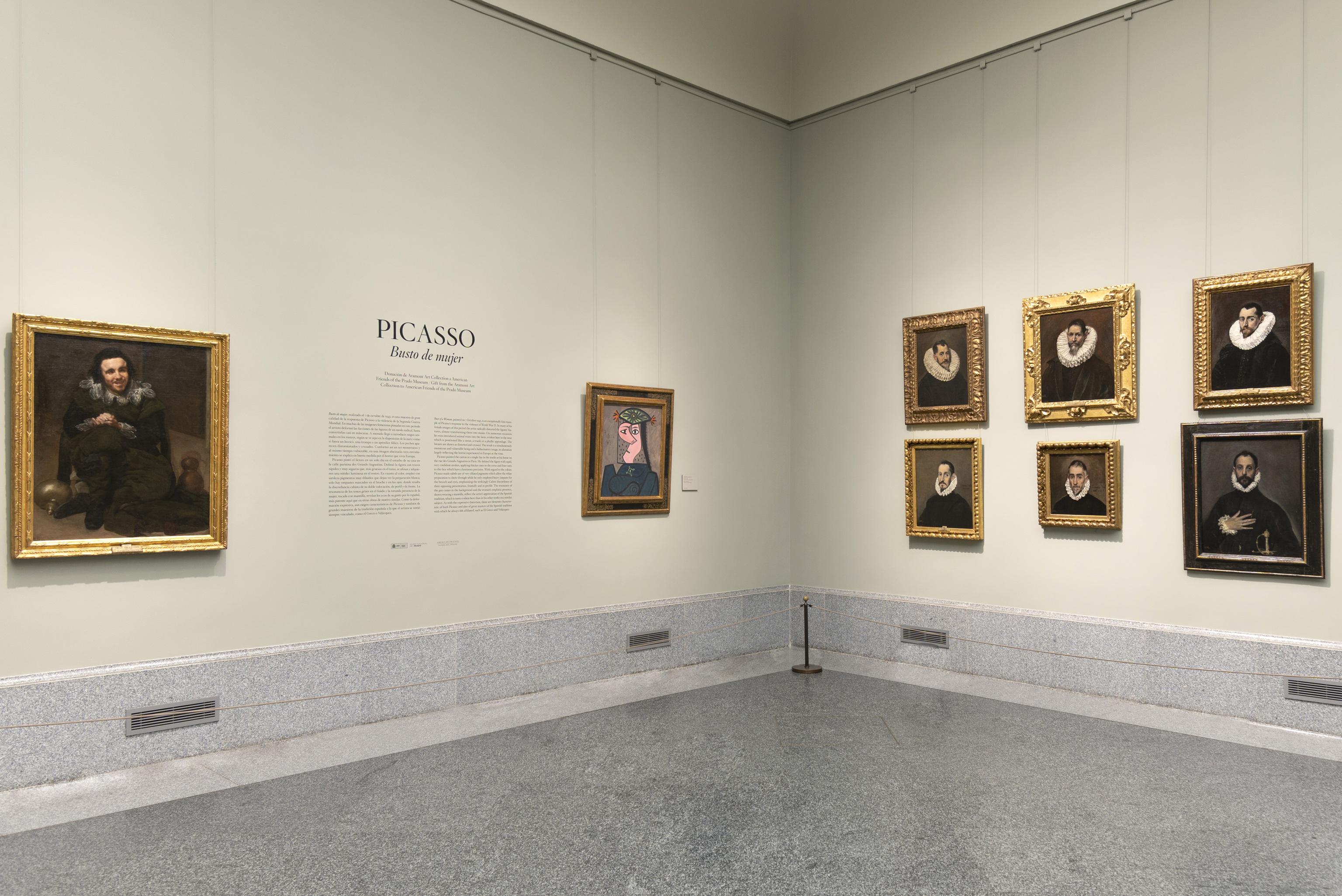 'Busto de mujer' de Picasso en la sala 9 B de edificio Villanueva en el Museo Nacional del Prado