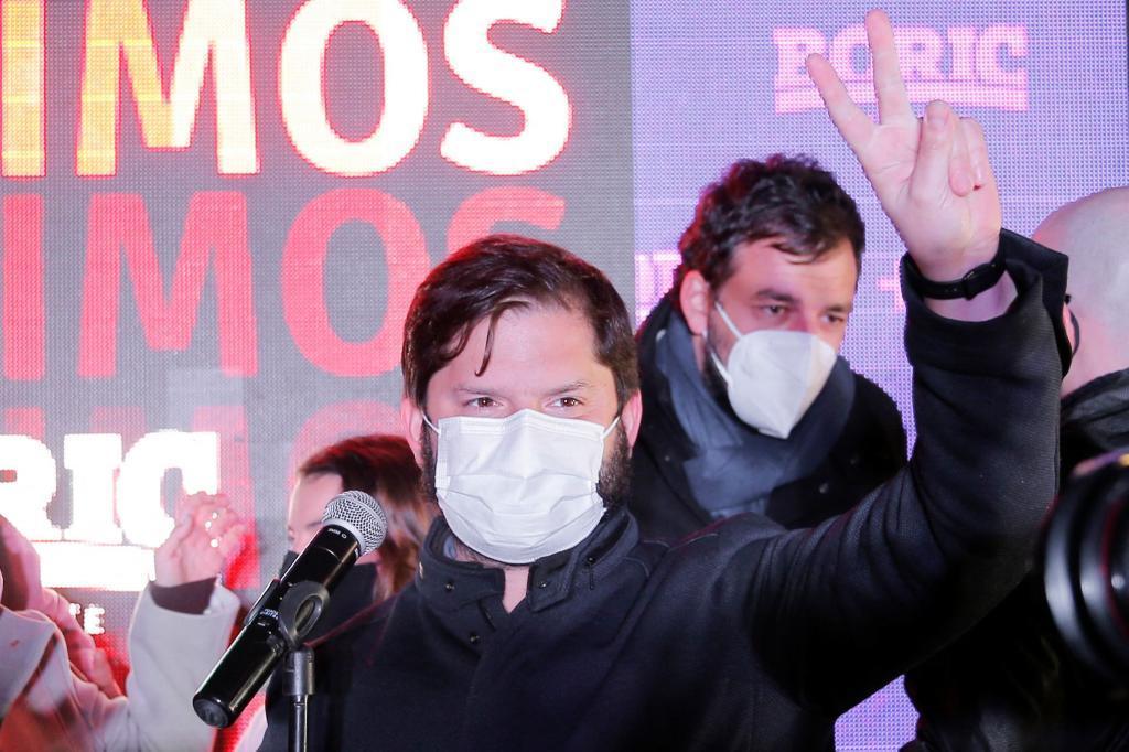 El candidato chileno Gabriel Boric.