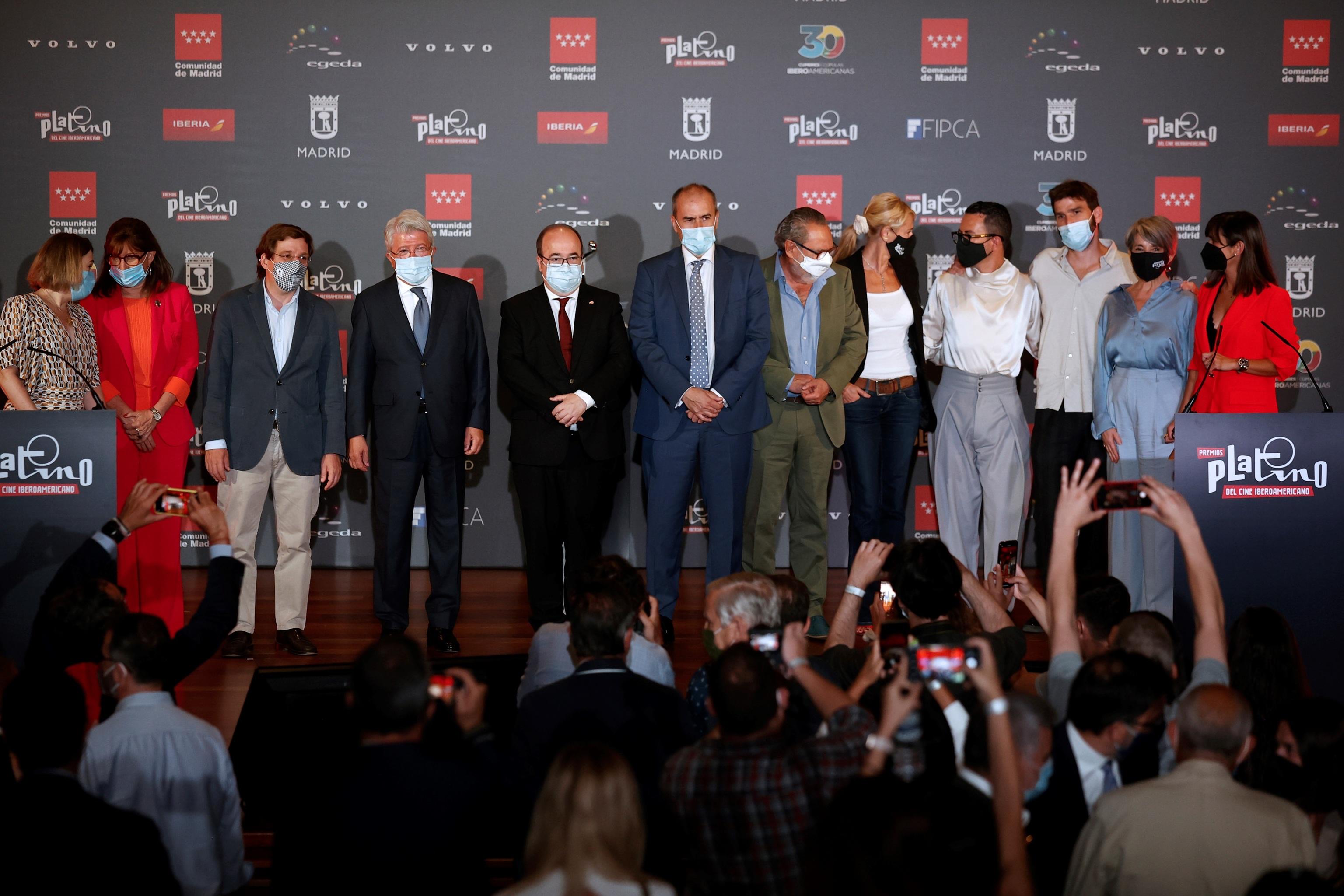 Ceremonia de lectura de las nominaciones (película y series) a los  Premios Platino del Cine Iberoamericano