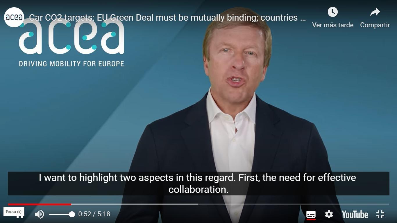 Oliver Zipse, presidente de ACEA y director ejecutivo de BMW.