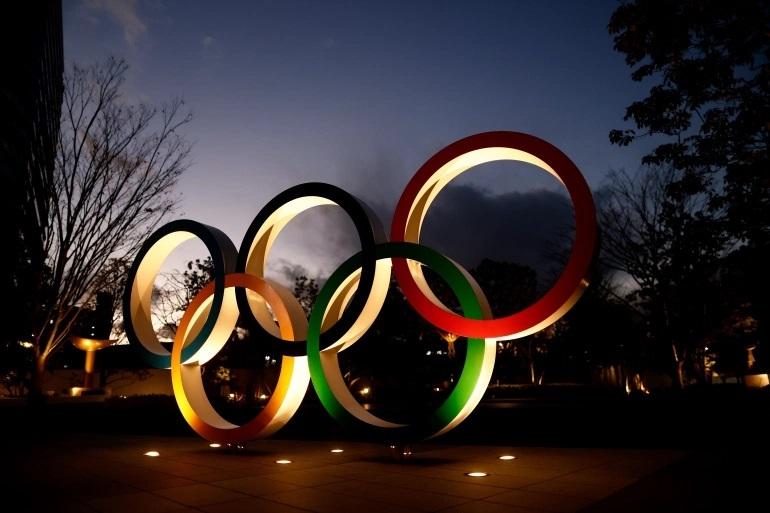 Los aros olímpicos, en la sede del COI.
