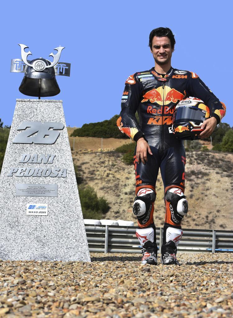 Dani Pedrosa en el circuito de Jerez, en 2020