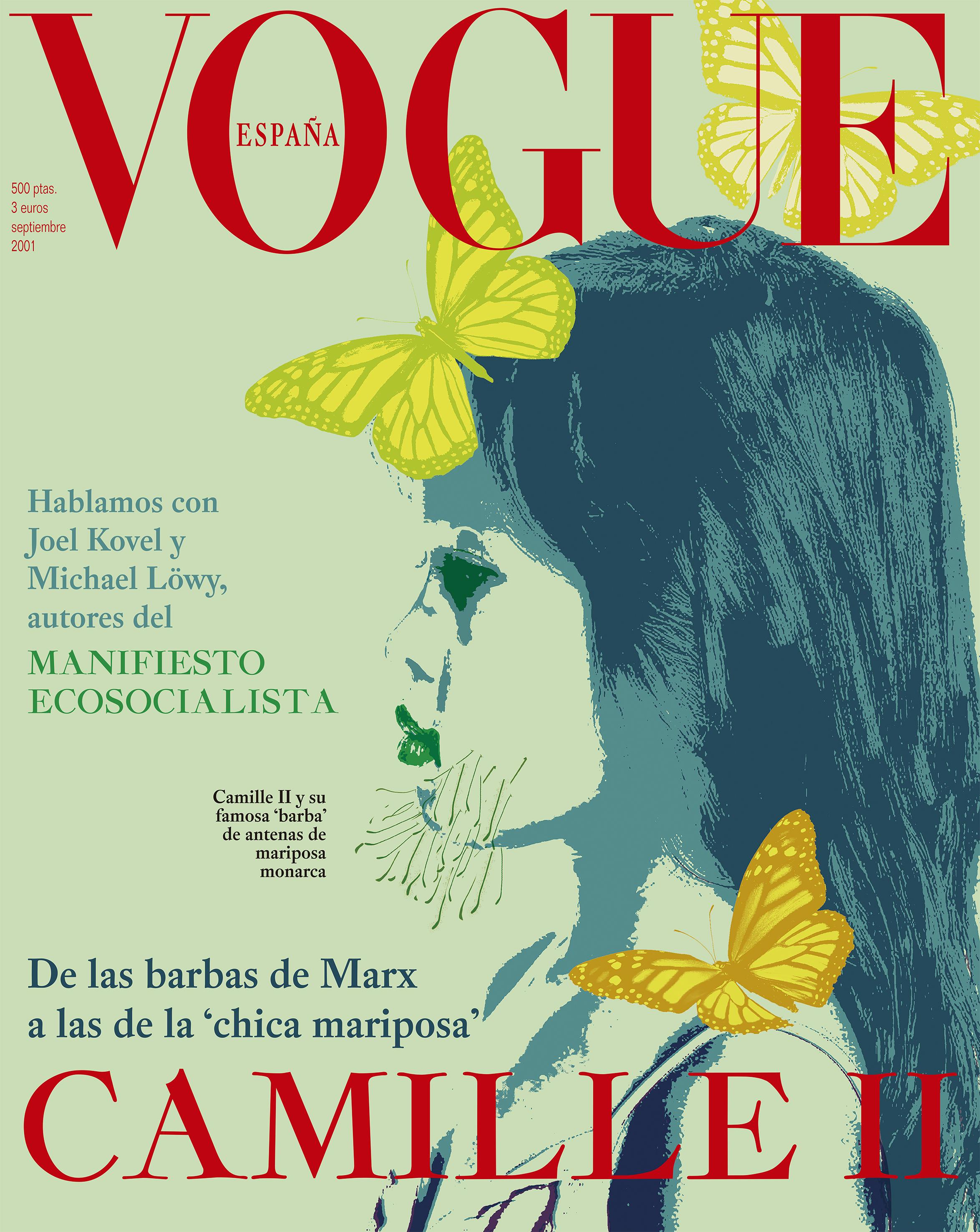 Portada de 'Vogue' con entrevista a Camille, la chica con antenas de mariposa.