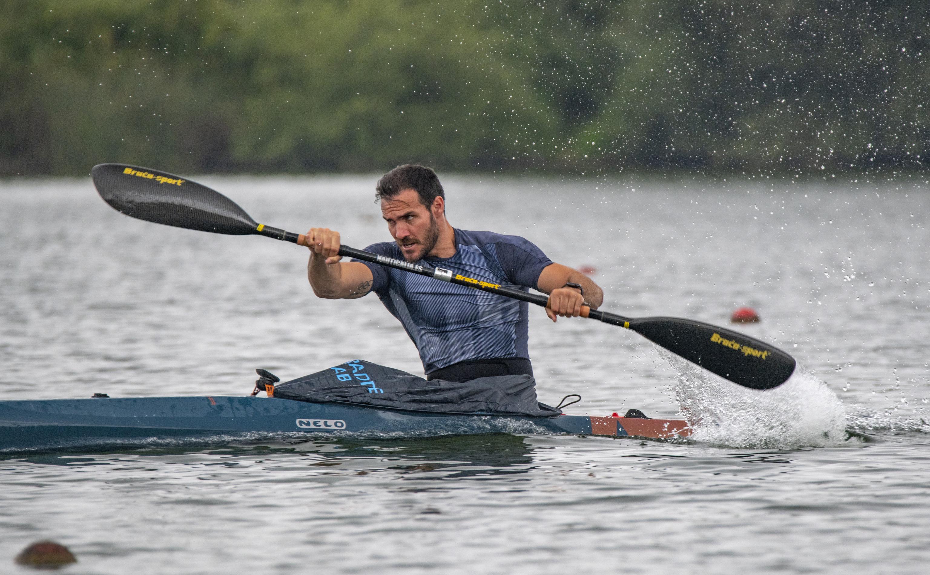 Saúl Craviotto, durante un entrenamiento.