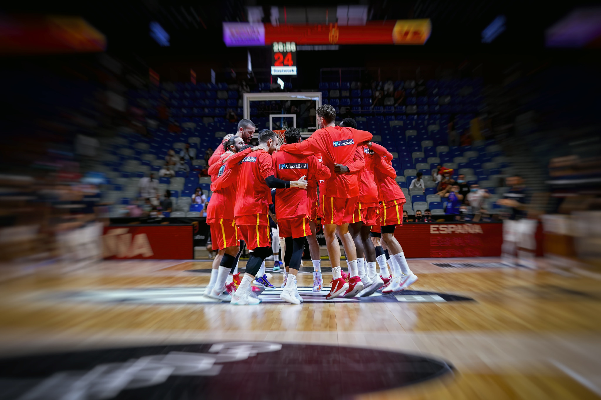 La selección masculina de baloncesto, en un partido reciente.