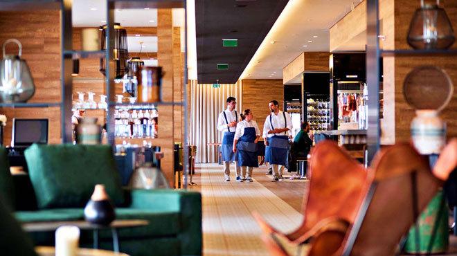 El restaurante À Terra, centrado en productos locales.