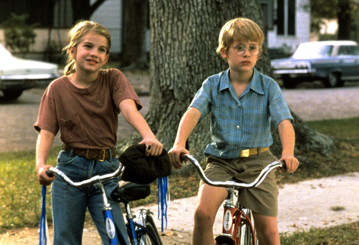 Anna Chlumsky y Macaulay Culkin, en una escena del filme.